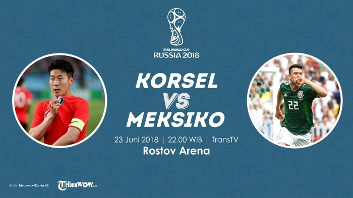 Korea Selatan vs Meksiko Piala Dunia 2018 Live Streaming