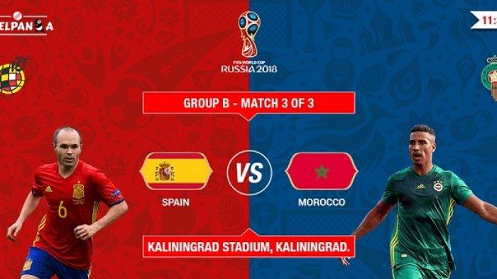 Spanyol vs Maroko Piala Dunia 2018 Live Streaming